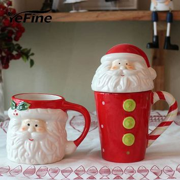 YeFine Creative Christmas Gift Ceramic Tea Mugs Water Container Cups And Mugs Top Grade Porcelain Coffee Cup Drinkware