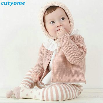 Newborn Baby Cardigan For Boys Girls Spring Autumn Infant Girl Knits Sweater Clothes Warm Toddler Boy Cotton Cardigan Outerwear