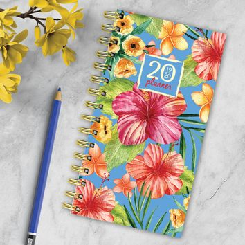 Tropic Flowers Small Academic Weekly/Monthly Planner