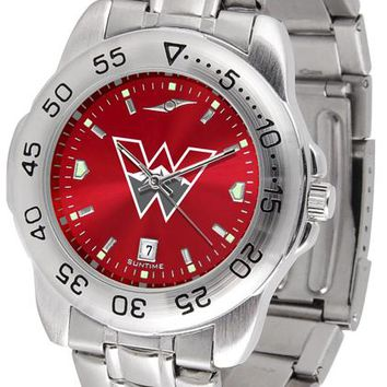 Western State Colorado University Mountaineers Sport Steel AnoChrome Watch