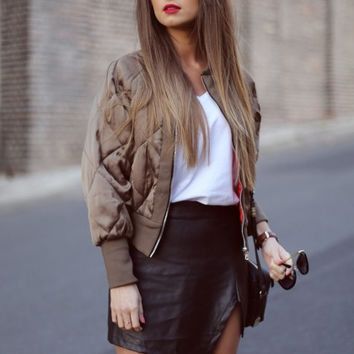 Black Asymmetric Mini Skirt
