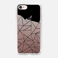 Abstract Mountain Black Transparent iPhone 7 Case by Project M   Casetify