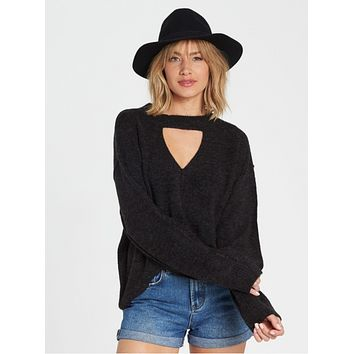Billabong Women's Without A Crew Sweater | Black