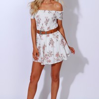 You & Me Floral-Ever Romper Ivory