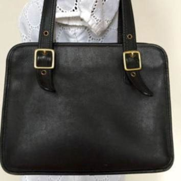 ONETOW Vintage Coach Ramblers Legacy Black Shoulder Bag