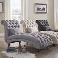 Knightsbridge Tufted Oversized Chaise Lounge by SIGNAL HILLS | Overstock.com Shopping - The Best Deals on Living Room Chairs