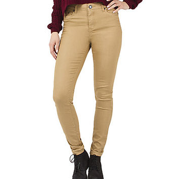 Girls Super Skinny Jeans - Tan.