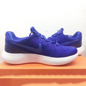 """""""Nike"""" Fashion Casual Male Female Breathable Comfortable Air Cushion Fly Line Weave Couple Sneakers Running Shoes G-FEU-SY"""