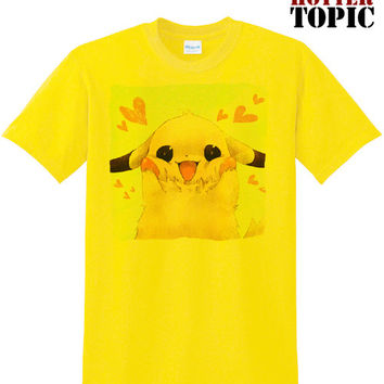 Cute kawaii Custom Pikachu being adorable Pokemon Eevee gengar team rocket men ladies girlfriend boyfriend pop trendy tee t-shirt tshirt