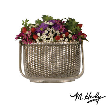 Michael Healy Designs MH1523 Brushed and Polished Nickel Silver Nantucket Basket Door Knocker