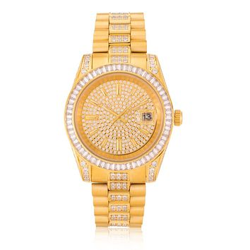 The 14K Gold Royal CZ Watch