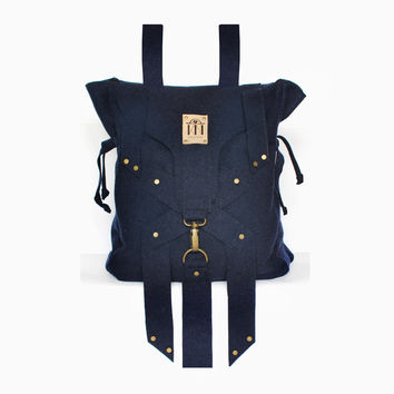 X Wool Backpack - Blue