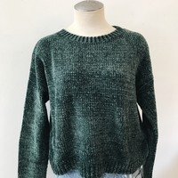 DENIZ CHUNKY SWEATER- HUNTER GREEN