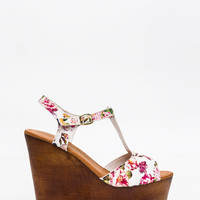 Wood You Rather T-Strap Wedges