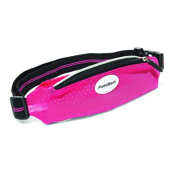Fuelbelt SuperStretch Waistpack: Hibiscus Pink/Black One Size