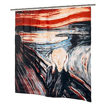 BenandJonah Collection Fabric Shower Curtain 70 x 72 inch  The Scream