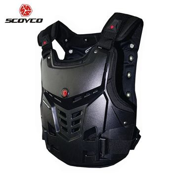 SCOYCO Motorcycles Chest and Back Protector Armor Vest Motocross Off-Road Racing Riding Body Protective Gear Guard Accessories
