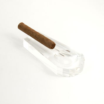 Crystal Cigar Ashtray, T.P.