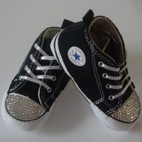Converse Shoes Featuring Clear Swarovski Crystals