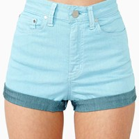 Sky High Denim Shorts