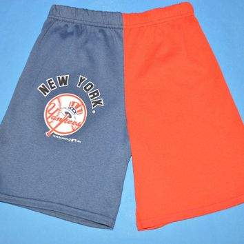 90s New York Yankees Logo Baseball Boy's Shorts Size 8