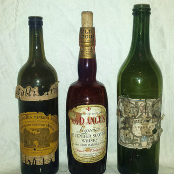 Antique Rare Liquor and Liqueur Bottles (3)