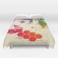 multi color collage, queen bee by healinglove Duvet Cover by Healinglove art products
