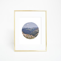 Rocky Mountain Circle Photography Art Print
