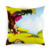 Calvin and Hobbs Play Under Tree, Pillow Cases, Covers, Decorative Pillow Case