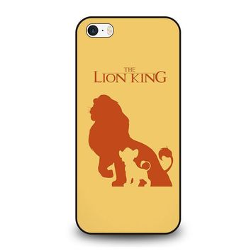 the lion king simba disney iphone se case cover  number 1