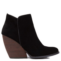 Very Volatile Whitby Black Demi Wedge Booties