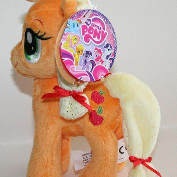 "Licensed cool 6"" DELUXE My Little Pony Plush Apple Jack Toy Doll Plushie Apples Cutie Mark"