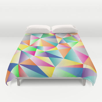 Kaleidoscope  Duvet Cover by Miss L In Art