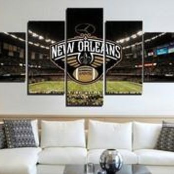 New Orleans Saints Stadium Canvas Print Wall Art Home Decor Framed