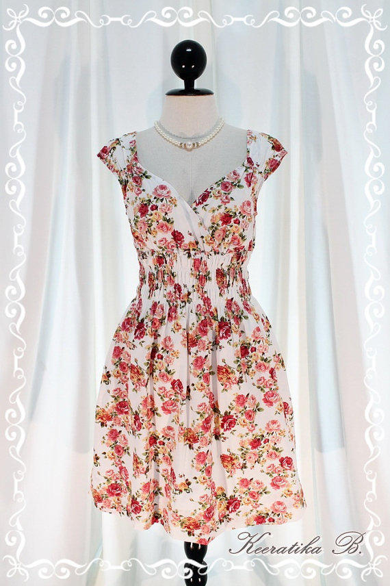 Colorful Time III - Colorful Collection Sweet Dress Vibrant Colours Dolly Cap Sleeve Pretty Dress Style M-L
