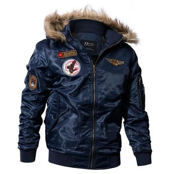 Winter Military Bomber Jacket Men Air Force Army Tactical Jacket Warm Wool Liner Outerwear Parkas Hoodie Pilot Coat