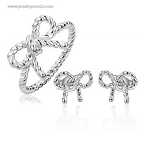 Exquisite Novel Binding Butterfly Fashion Ring And Earring Sets