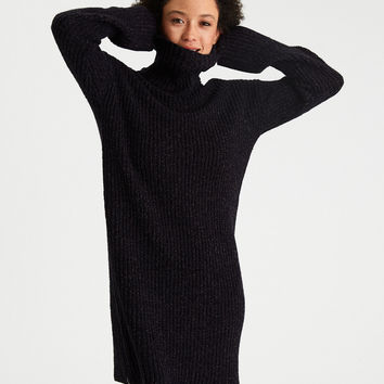 AE Ahh-Mazingly Soft Turtleneck Sweater Dress, Navy
