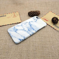 White marble blue pattern phone case for iphone 5 5s SE 6 6s 6 plus 6s plus + Nice gift box 072601