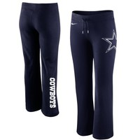 Nike Dallas Cowboys Ladies Tailgater Fleece Pants - Navy Blue
