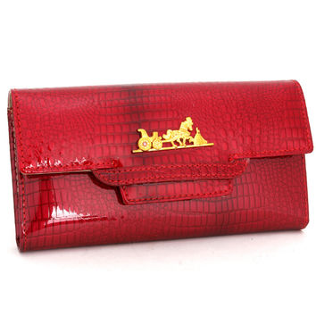 Leather Ladies Bags Pink Fashion Wallet [9248518404]