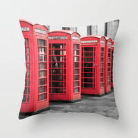 The Phone Boxes  Throw Pillow by secretgardenphotography [Nicola] | Society6