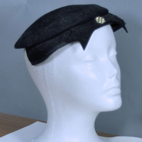 HOLIDAY SALE Vintage 1950s WESCO Black Felt Hat Made in the Usa
