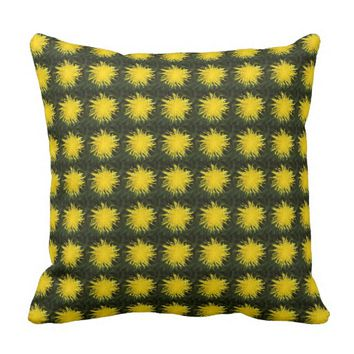 Repeat Dandelion Garden Throw Pillow
