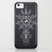 Heart Rules iPhone 5c 5s 5 4s 4 3gs 3g & iPod Impact Resistant Case by Vanya