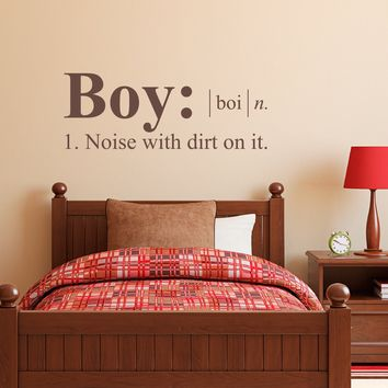 Boy Wall Decal - Noise with dirt on it - Dictionary definition Decal - Boy Bedroom Wall Decal - Medium
