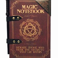 Magic Wand Note Pad A5 Notepad Notebook with Wand Pencil Novelty Gift