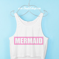 Mermaid Crop Tank Top