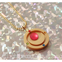 Sailor Moon Transformation Brooch Inspired Acrylic Necklace for Mahou Kei & Magical Girl Fashion