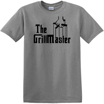 The GrillMaster T-Shirt, Godfather theme tee, BBQ grilling, charcoal grill, cooking, gas grilling, fathers day, birthday gift, mens tshirts